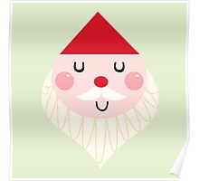 Adorable christmas Santa with Red Hat Poster