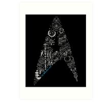 Live Long & Prosper - Star Trek Classic Doodles Art Print