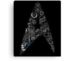 Live Long & Prosper - Star Trek Classic Doodles Canvas Print