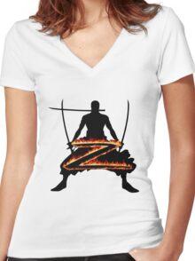 Z for Zoro Women's Fitted V-Neck T-Shirt
