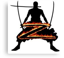 Z for Zoro Canvas Print