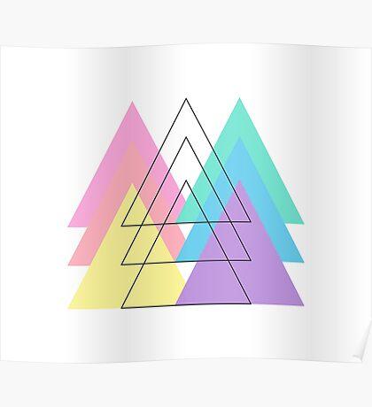 Pantone Pastel Triangles Poster