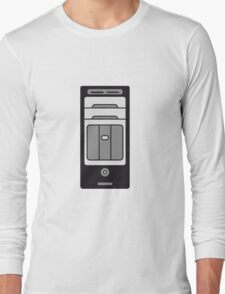 computers computer pc tower housing Long Sleeve T-Shirt