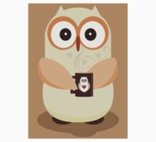 OWL AND CUPPA Kids Tee