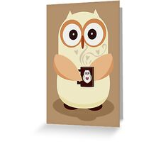 OWL AND CUPPA Greeting Card