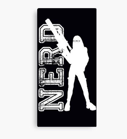 Nerd with a gun Canvas Print