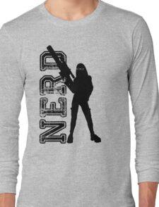 Nerd woman Long Sleeve T-Shirt