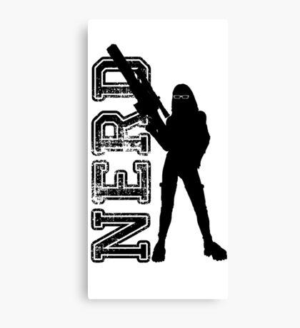 Nerd woman Canvas Print
