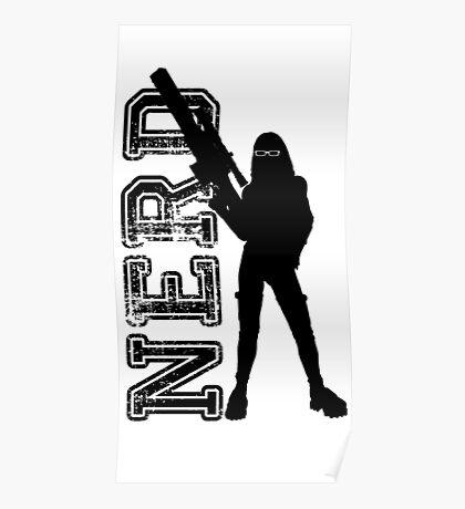 Nerd woman Poster