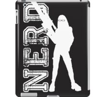 Nerd with a gun iPad Case/Skin