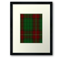 00185 Ulster (Red) District Tartan  Framed Print