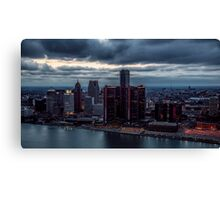 Detroit Gotham Canvas Print