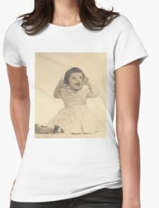 pinkyjain's First Photo Shoot Womens Fitted T-Shirt