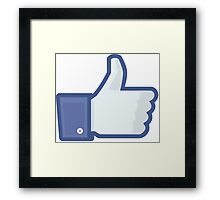 Facebook Like Button Framed Print