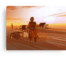 ARES CYBORG IN THE DESERT OF HYPERION,Sci Fi Movie Canvas Print