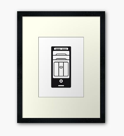 computers computer pc tower housing Framed Print