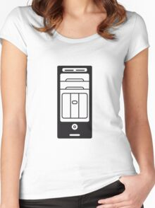 computers computer pc tower housing Women's Fitted Scoop T-Shirt