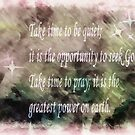Take Time To Pray by Marie Sharp