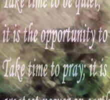 Take Time To Pray Sticker