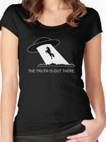The truth is out there - Unicorn  Women's Fitted Scoop T-Shirt