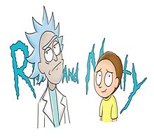 Rick and Morty Word Photographic Print