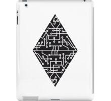 diamond-2 triangles form microchip technology cool design pattern black iPad Case/Skin