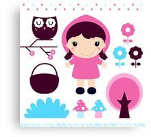 Little Red Riding Hood Fairytale { Pink Edition } Canvas Print