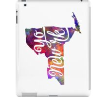 New York US State in watercolor text cut out iPad Case/Skin