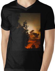 Sunset in Washington state Mens V-Neck T-Shirt