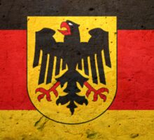 German flag with the German eagle Sticker