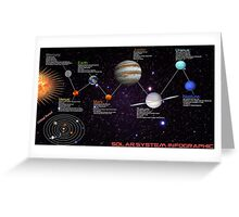 space infographic Greeting Card