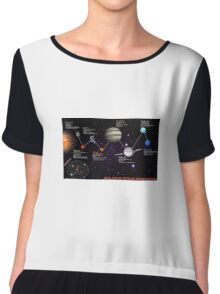 space infographic Chiffon Top