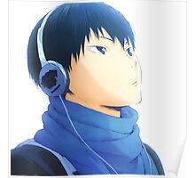 Kageyama & Headphones Poster