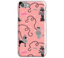 Retro 50s Poodle Skirt Dogs Pink Black Pattern iPhone Case/Skin