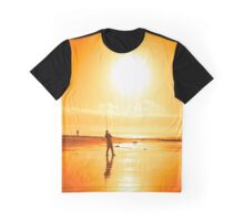 lone fisherman fishing on the Ballybunion beach Graphic T-Shirt