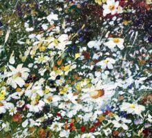 Spring Daisy Flowers in Field  Sticker