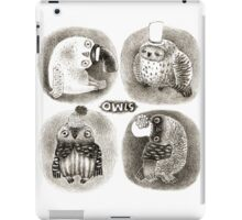 Four Pastel Owls in Funny Hats iPad Case/Skin
