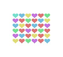 Colorful hearts Photographic Print