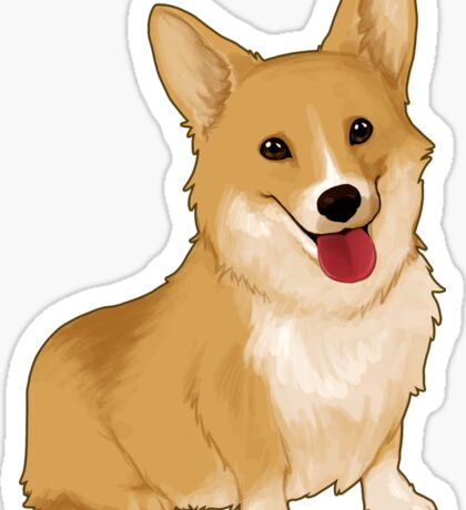 Cute smiling corgi Sticker