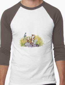 Calvin And Hobbes mapping Men's Baseball ¾ T-Shirt