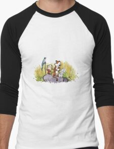 Calvin And Hobbes mapping Men's Baseball ¾ T-Shirt