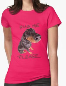 hug me... Womens Fitted T-Shirt