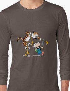 hobbes and calvin time advanture Long Sleeve T-Shirt