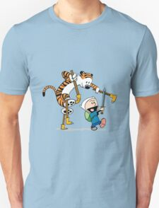 hobbes and calvin time advanture T-Shirt