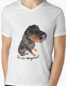 dangerous dog Mens V-Neck T-Shirt
