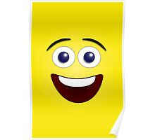Laughing Yellow Smiley Face Poster