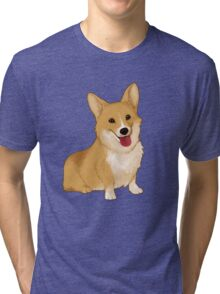 Cute smiling corgi Tri-blend T-Shirt