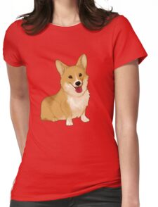 Cute smiling corgi Womens Fitted T-Shirt