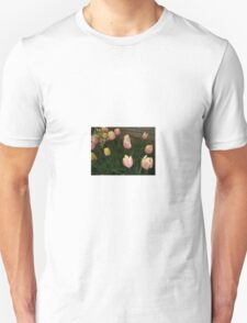 PINK AND YELLOW TULIPS Unisex T-Shirt