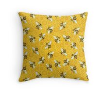 Honeybees Honeycomb Bee Apiary Pattern Throw Pillow